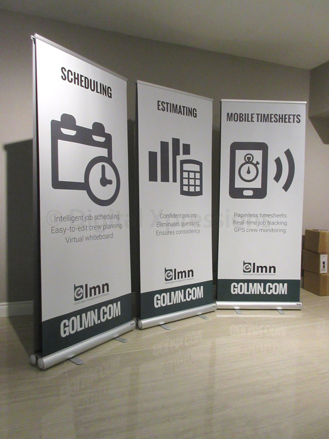 Exhibition Stand Design Cost : Double sided banner stands exhibition banners exhibit