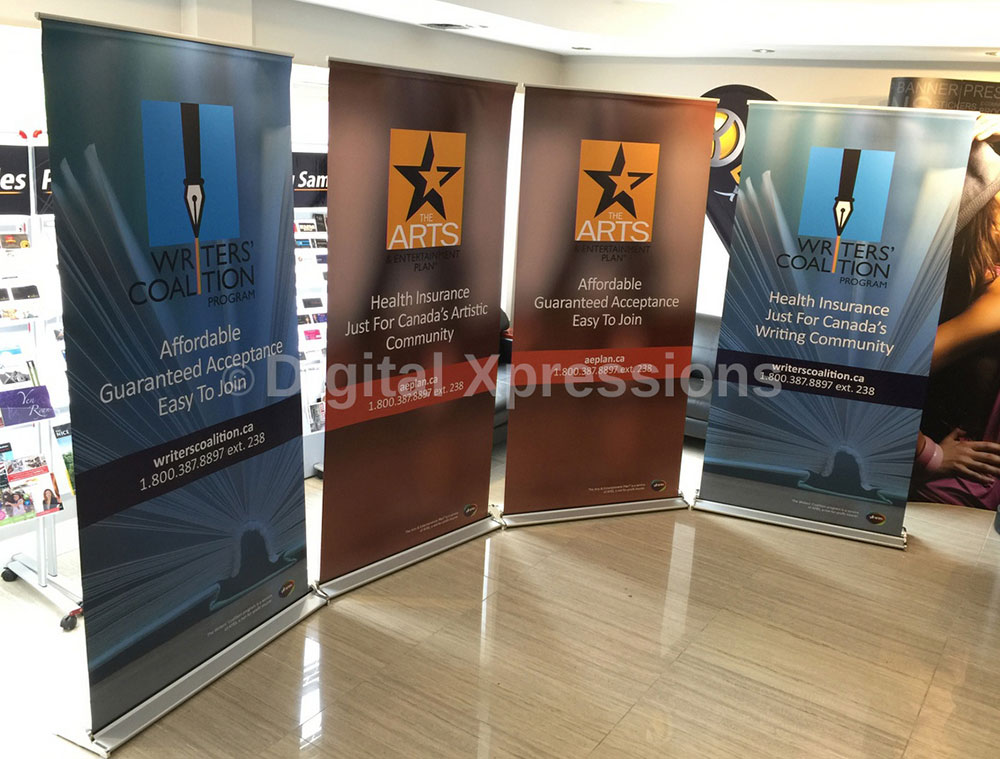 Trade Banner Stands : Pop up banner premium roll stands pull