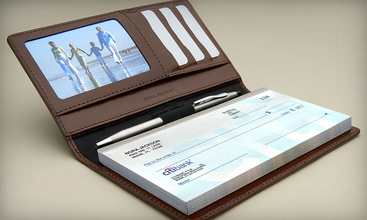 Business Cheque Book Cover ~ Custom business cheuqes design and printing